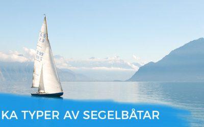Olika typer av segelbåtar